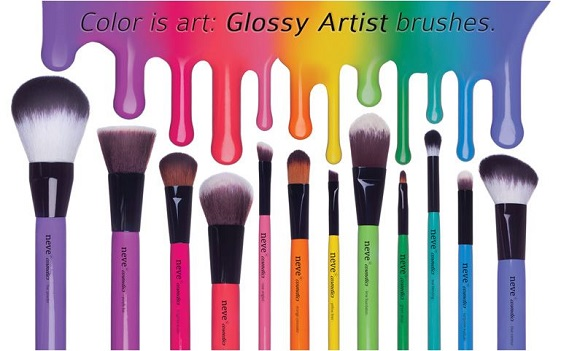 In arrivo i Glossy Artist Brushes di Neve Cosmetics