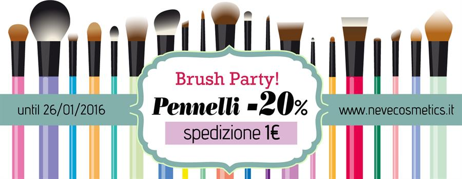Brush Party: Pennelli in offerta su Neve Cosmetics
