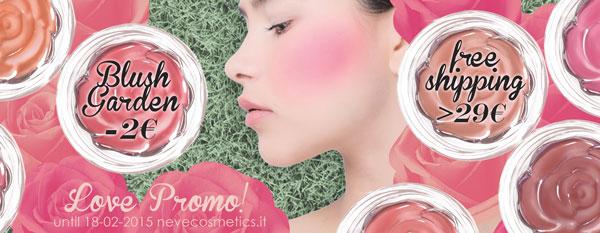 La collezione Blush Garden di Neve Cosmetics in offerta lancio