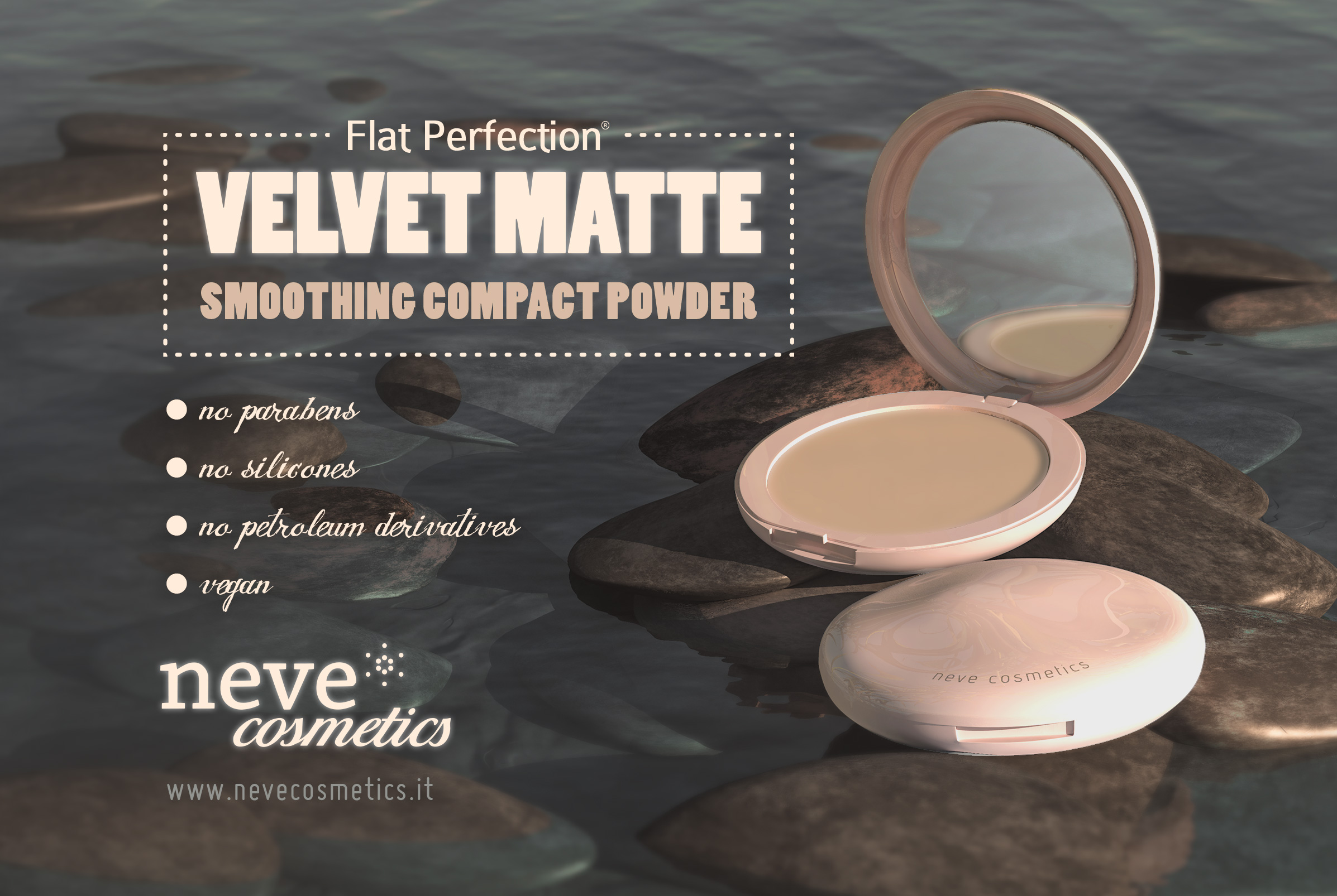 Neve Cosmetics: Velvet Matte, smoothing compact powder