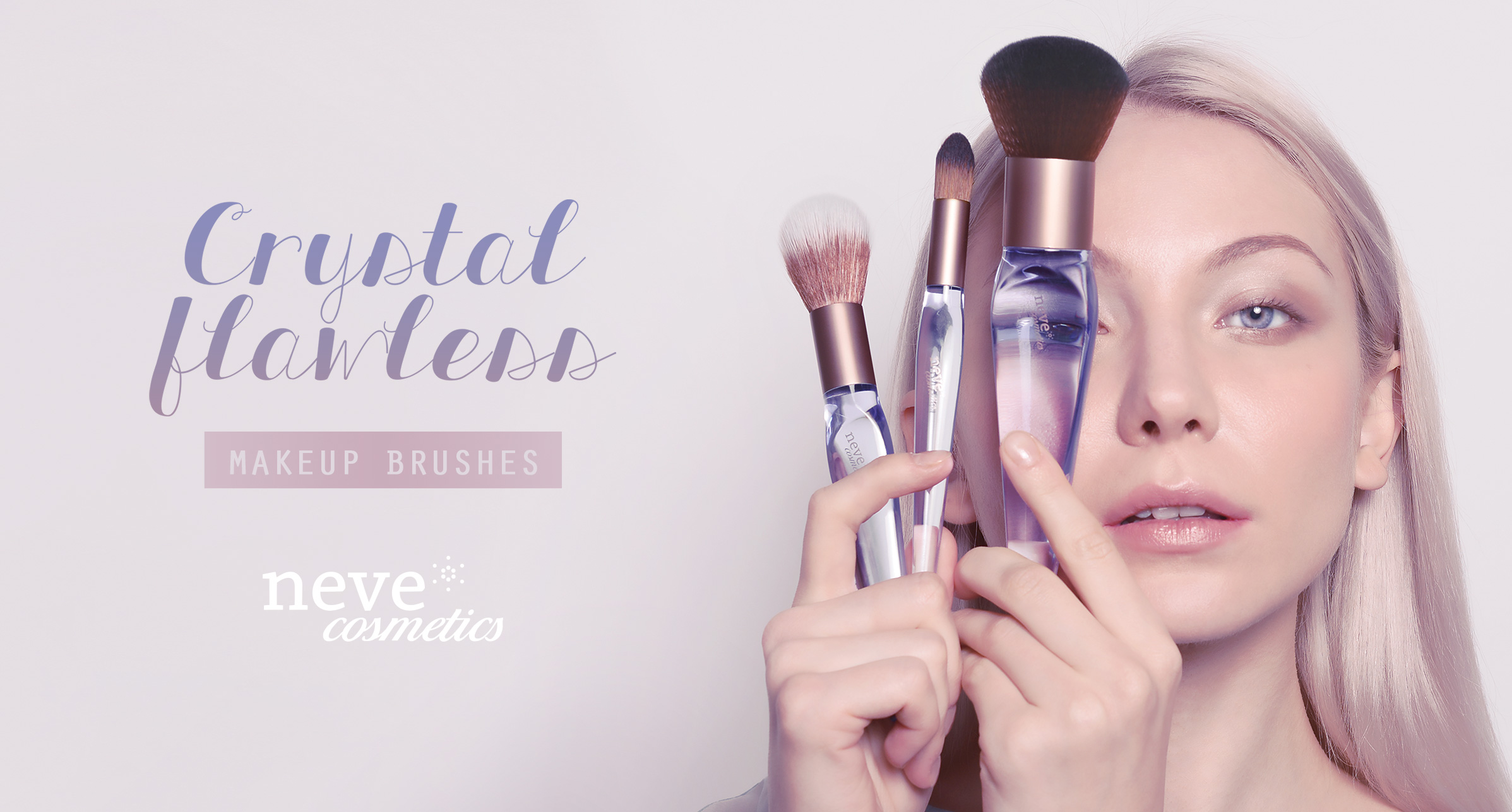 Crystal Flawless brushes: la nuova collezione Neve Cosmetics