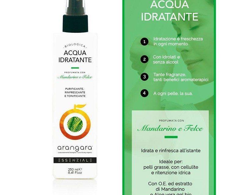 Acqua idratante Mandarino e Felce – Arangara | Recensione