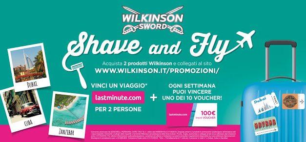 Wilkinson Shave and Fly: vinci un viaggio da sogno